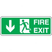 Safe Safety Sign - Fire Exit Door Down